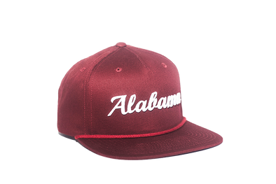 University of Alabama Cursive Retro Snapback Hat – Crimson