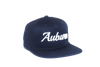 Auburn University Cursive Retro Snapback Hat - Navy Blue