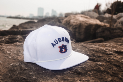 Auburn University Classic Retro Snapback Hat - White