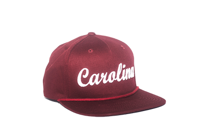 University of South Carolina Cursive Retro Snapback Hat – Garnet