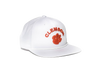 Clemson University Classic Retro Snapback Hat - White