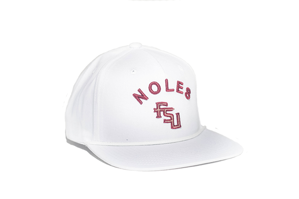 Florida State University Classic Retro Snapback Hat - White