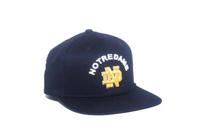 University of Notre Dame Classic Retro Snapback Hat – Blue