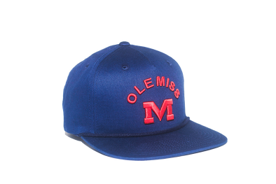 University of Mississippi Classic Retro Snapback Hat - Navy Blue
