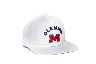 University of Mississippi Classic Retro Snapback Hat - White