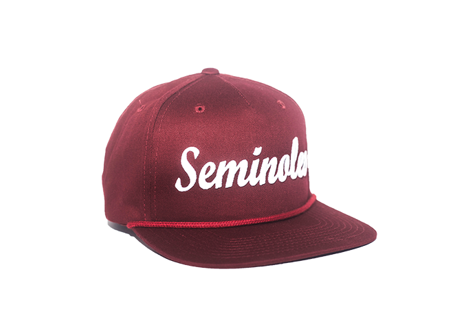 buy popular bb100 71172 Florida State University Cursive Retro Snapback Hat – Garnet – The  Collegiate Player
