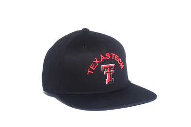Texas Tech University Classic Retro Snapback Hat – Black