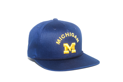 University of Michigan Classic Retro Snapback Hat – Blue