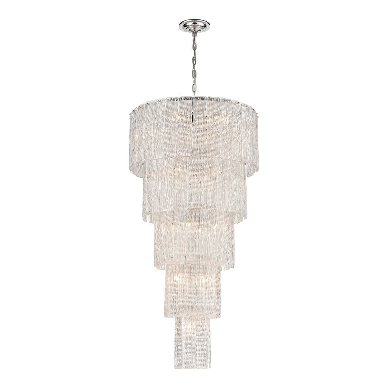 DIPLOMAT 19-LIGHT CHANDLIER IN CHROME - LARGE