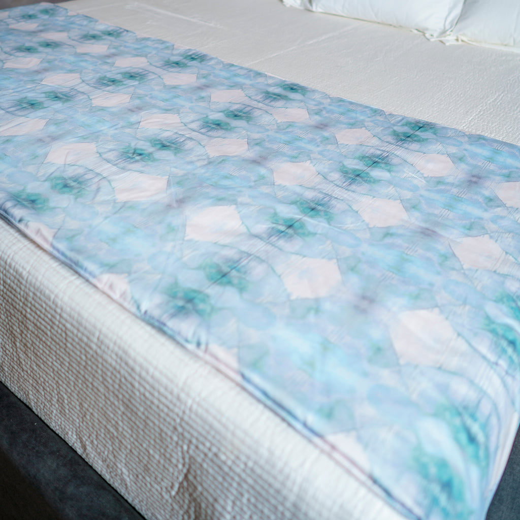 Jellyfish Bed Scarf - Aqua