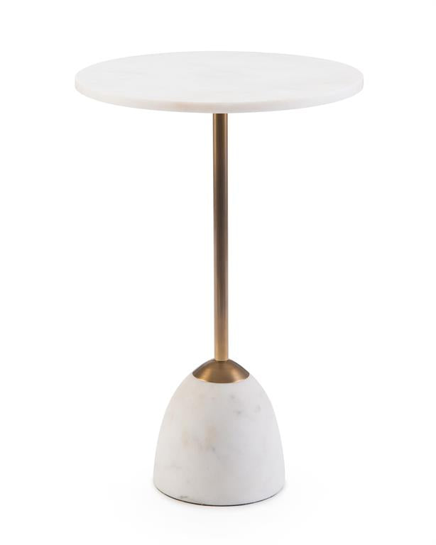 Brass and Marble Martini Side Table