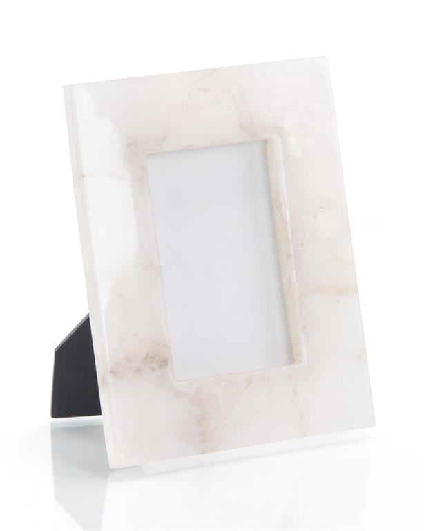 White Translucent Agate Picture Frame