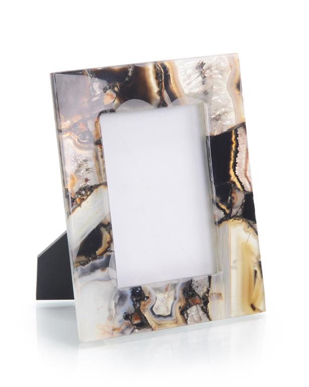 Rich Browns to Clear Agate Picture Frame
