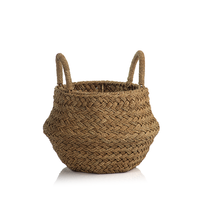Isola Bella Seagrass and Lampakanay Rope Basket - Small