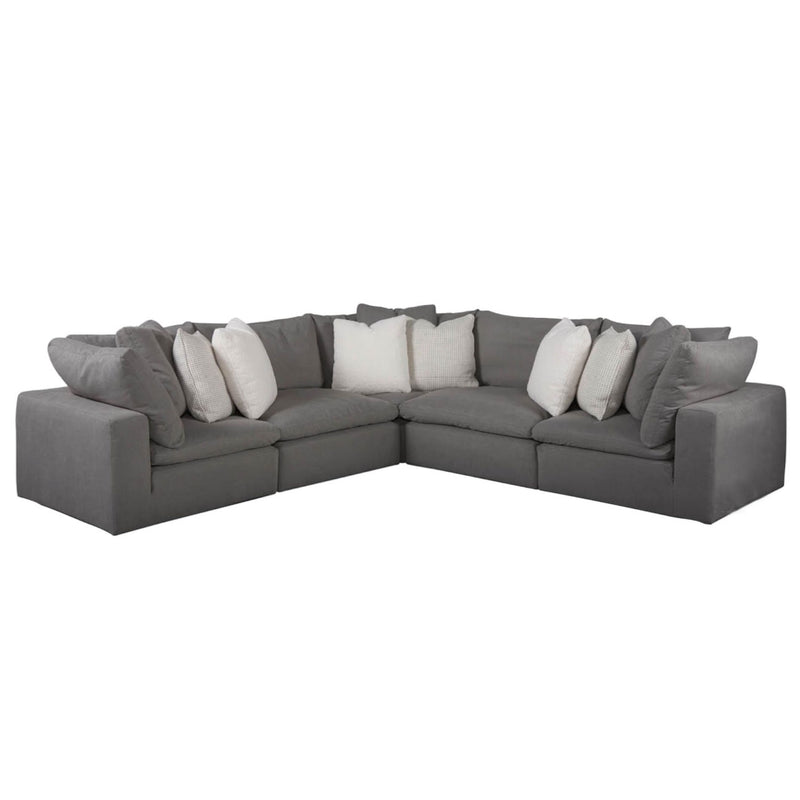 Poufy Sectional - Grey