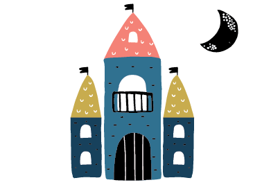 Fairy Tale Castle Sticker Set - 4 different castles
