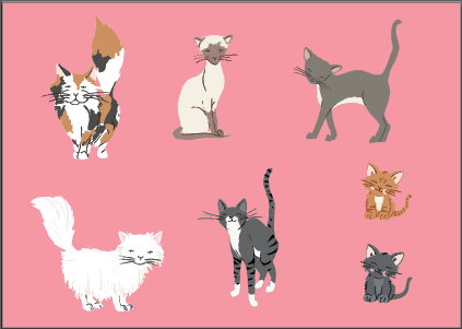 Perfect Pets Kitty Sticker Set - 21 cute cats