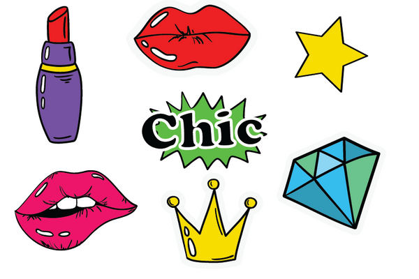 Fun Style Sticker Set - 14 different looks