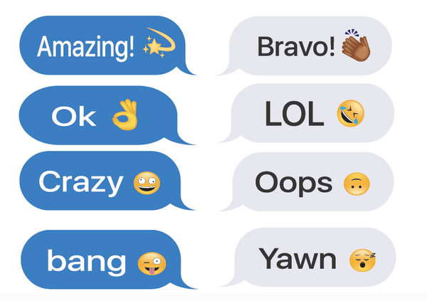 Say It Text Message Sticker Set - 16 peelable text messages