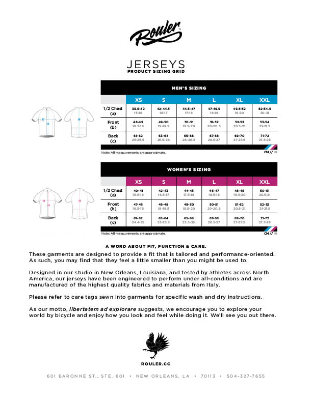 Jersey Fit Chart