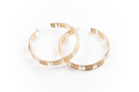 Banana Fibre Light Hoop Earrings - Large