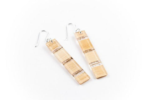 Banana Fibre Light Earrings - Long