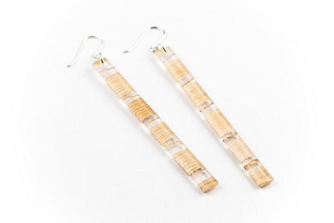 Banana Fibre Light Earrings - Skinny