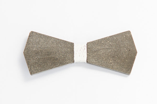 Concrete Bow Tie - Arrow - White