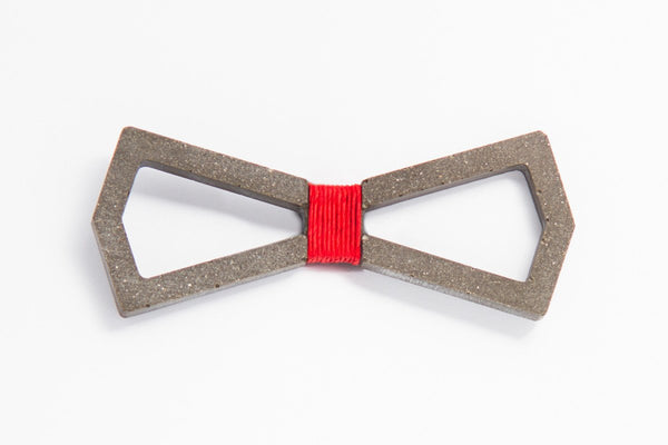 Concrete Bow Tie - Infinity - Red