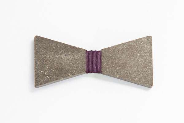 Concrete Bow Tie - Simple - Purple