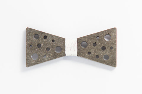 Concrete Bow Tie - SuperStar - White