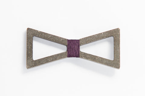 Concrete Bow Tie - Verge - Purple