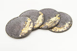 Concrete Fractured Coasters - Gold -  Set of 4