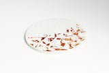 White Concrete Fractured Coasters - Copper - Set of 4