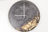 Concrete Fractured Clock - Gold - 11 inch