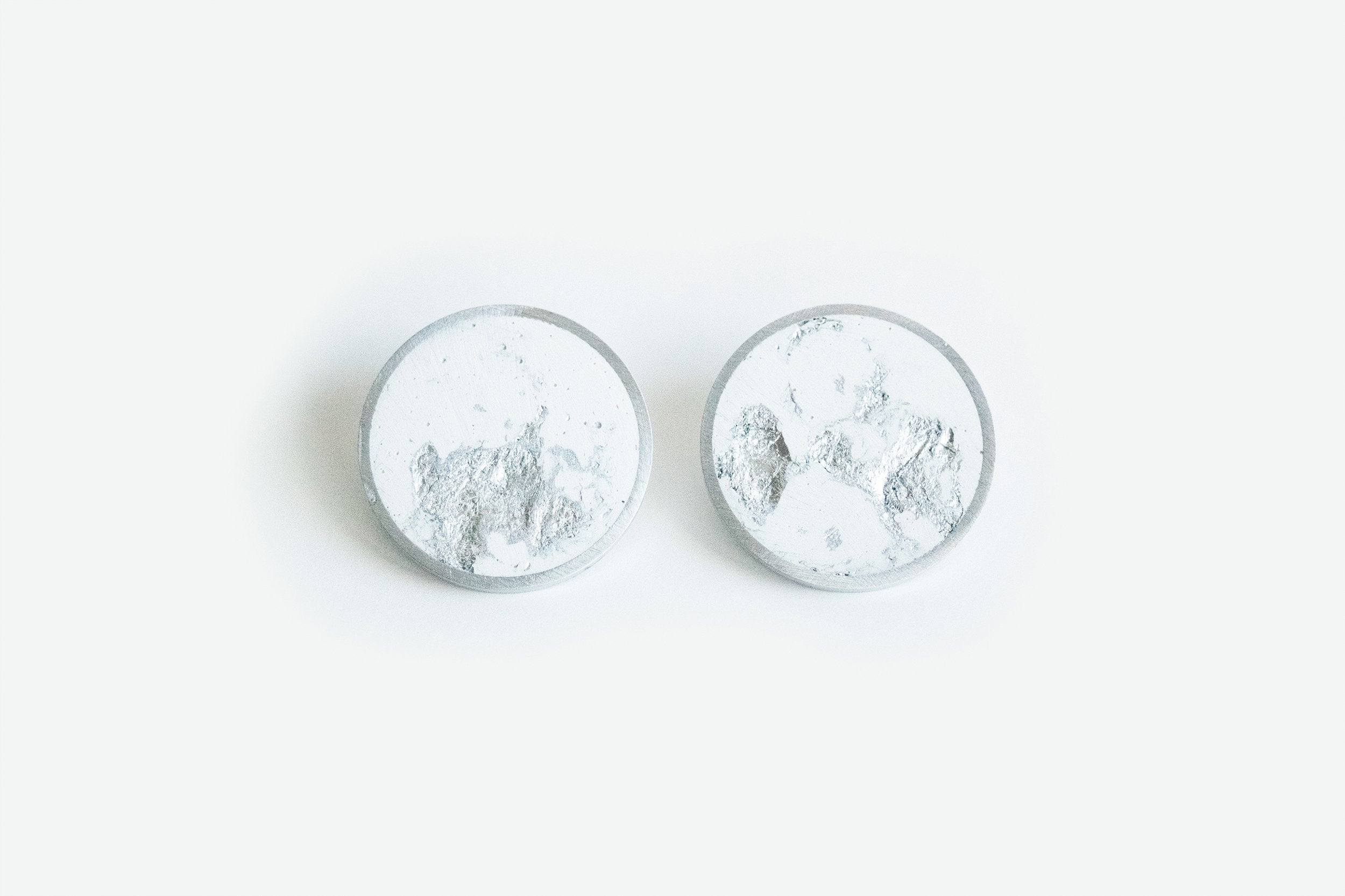 Concrete Framed Earrings - Large Stud