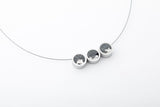 Concrete Aluminum Necklace - Trio - Gold