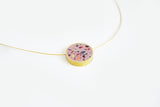 Concrete Confetti Framed Necklace - Circle - Small
