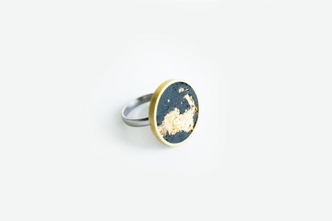 Concrete Brass Ring - Medium - Gold