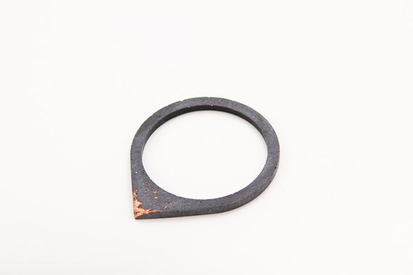 Concrete Fractured Bangle - Drop - Copper