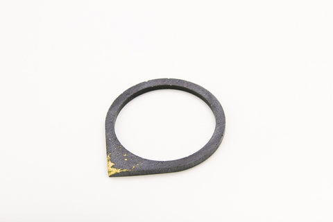 Concrete Fractured Bangle - Drop - Gold