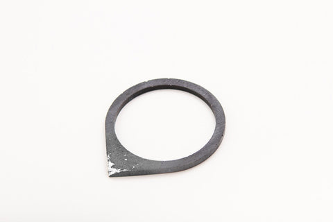 Concrete Fractured Bangle - Drop - Silver