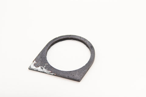 Concrete Fractured Bangle - Offset - Silver