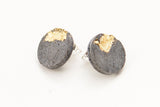 Concrete Fractured Earrings - Large Stud