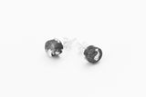 Concrete Fractured Earrings - Small Stud - Silver