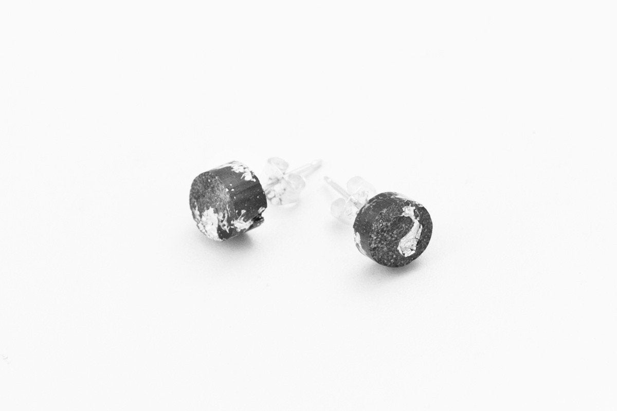 Concrete Fractured Earrings - Small Stud