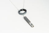 Concrete Fractured Necklace -Loop - Silver