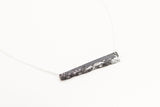 Concrete Fractured Necklace - Offset Bar - Silver