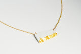 Concrete Fractured Necklace - Offset Small