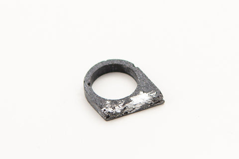 Concrete Fractured Ring - Offset - Silver